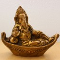 Ganesha Relaxing On Boat Cut Couch