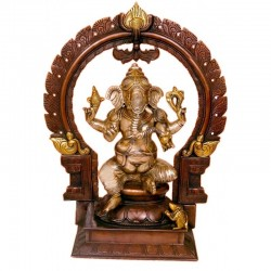 Two Tone Coloured Ganesha on Peeta