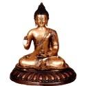 Meditating Buddha Brass Statue