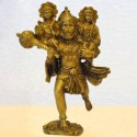 Lord Hanuman with Ram Lakshman Brass Statue