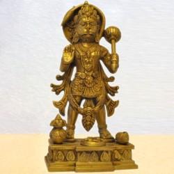 Standing Hanuman / Anjaneya Blessing Brass Statue