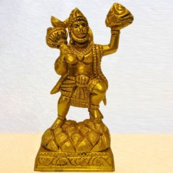 Hanuman Brass Idol lifting Hill