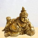 Relaxing Kubera Hindu God brass idol