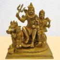 Shiva Family Brass Statue