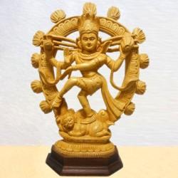 Natya Nataraja Wooden Statue