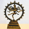 Dual Color Nataraja brass statue