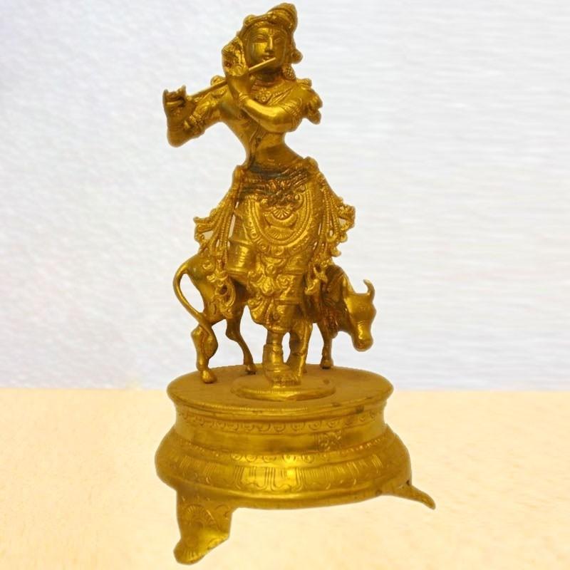Gopal Krishna with cow