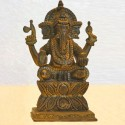 Antique Ganesha Blessing brass statue
