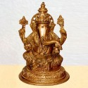 Blessing Lord Ganesha Hand Crafted Brass statue