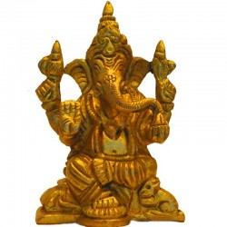 Blessing Ganesha Brass Statue