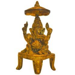 Blessing Ganesha under Chariot Umbrella