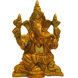 Blessing Ganesha with Shanka & Chakra