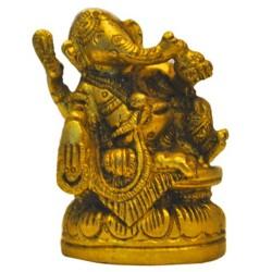 Ganesha Relaxing Brass Idol
