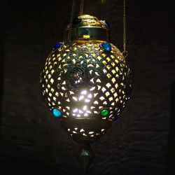 Handmade Brass Hanging Lamp