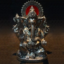 Lord Ganesha blessing Aluminium Statue