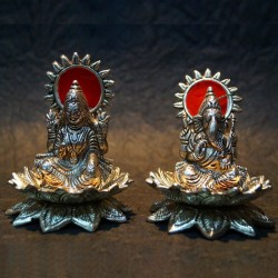 Lakshmi Ganesh Idols made up of Aluminium idols