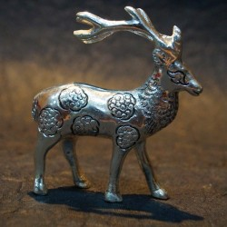 Hand crafted aluminium Deer idol
