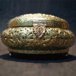 Hand crafted aluminium jewellery box