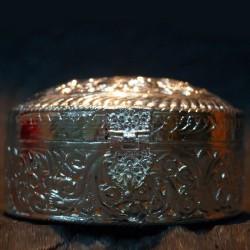 Shining aluminium jewellery box