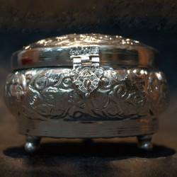 Shining Aluminium round Jewellery box