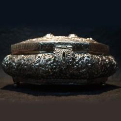 Brass coated aluminium flower jewellery box