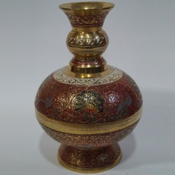 Pot shaped brass flower vase
