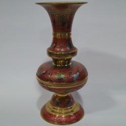 Brass flower vase moulded into jar shape