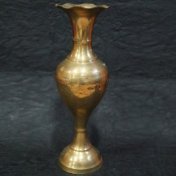 Brass flower vase for spiritual décor