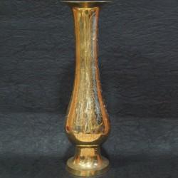 Long classic brass flower vase