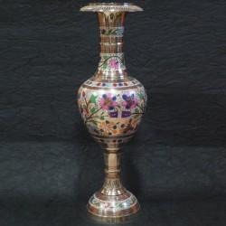 Pot shaped designed brass flower vase