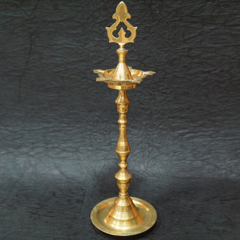 Brass moulded deepas for festival pujas