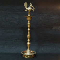 Kerala Brass deepa with beautiful hand crafted stand