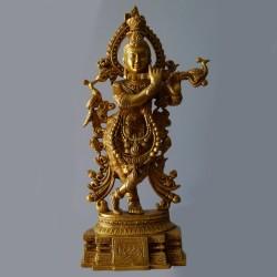 Murali Krishna brass idol