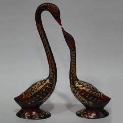 Duck and Duckling Brass Idol