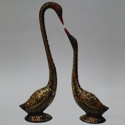 Beautiful Duck and Duckling brass idol