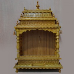 Designed wooden puja mantap