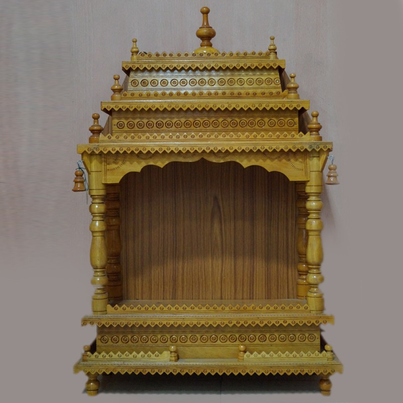 Designed wooden puja mantap