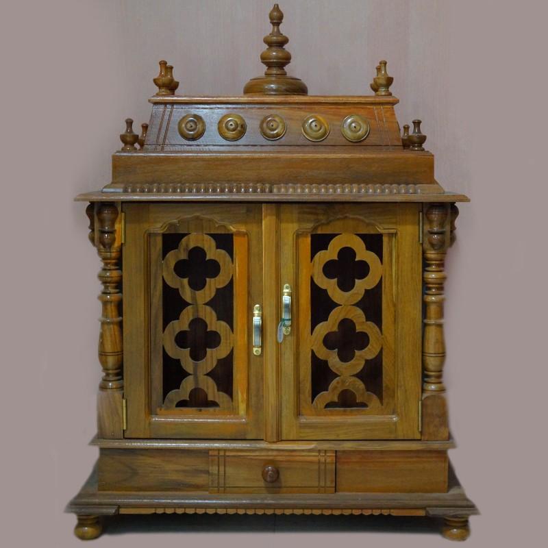 Wooden puja mantap with door