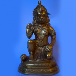 Blessing Lord Hanuman statue