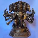 Panchmukha Anjaneya Brass statue