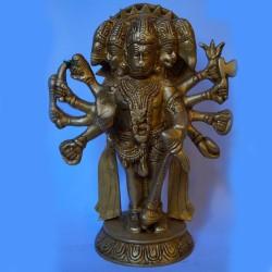 Blessing Panchmukha Anjaneya Brass statue