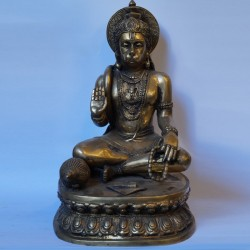 Lord Hanuman blessing antique finished brass idol