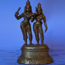 Beautiful Shiva Parvathi brass idol