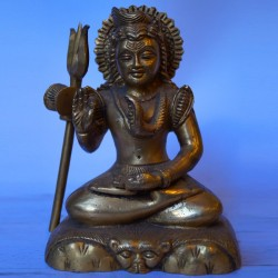 Blessing Lord Shiva sitting brass Idol