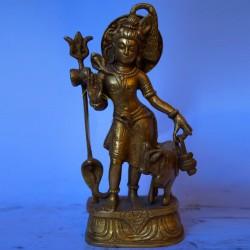 Lord Shiva standing brass statue