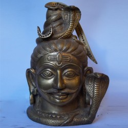 Powerfull Lord Shiva bust.