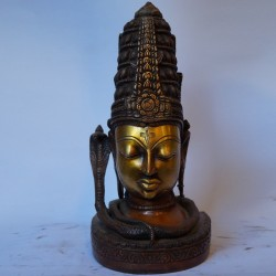Lord Shiva face antique brass idol