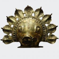 Varaha swamy brass wall hanging.