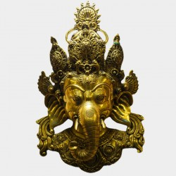 Thai Lord Ganesha brass wall hanging