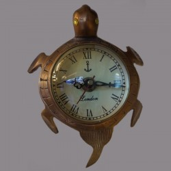 Turtle brass wall clock